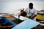 Orlando Villareal, of Buenavista, Agusan del Norte, a boat maker since 15. MindaNews Photo by H.Marcos C. Mordeno
