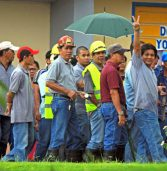 Workers stage noise barrage over delayed payment of benefits