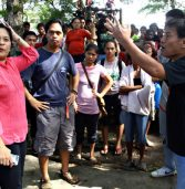 Evacuees hold protest vs mil op in Agusan Norte capitol