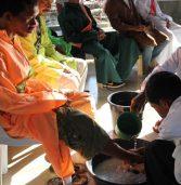 Washing of the feet in Barangay Andap