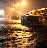 Flashfloods  turn parts of downtown Davao City into a river