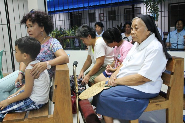 Sr. Letty Daral, MSM, former coordinator of TFDP-Butuan at the mass during the reunion of TFDP workers in Butuan City on Aug. 29, 2015. MindaNews photo by H. Marcos C. Mordeno