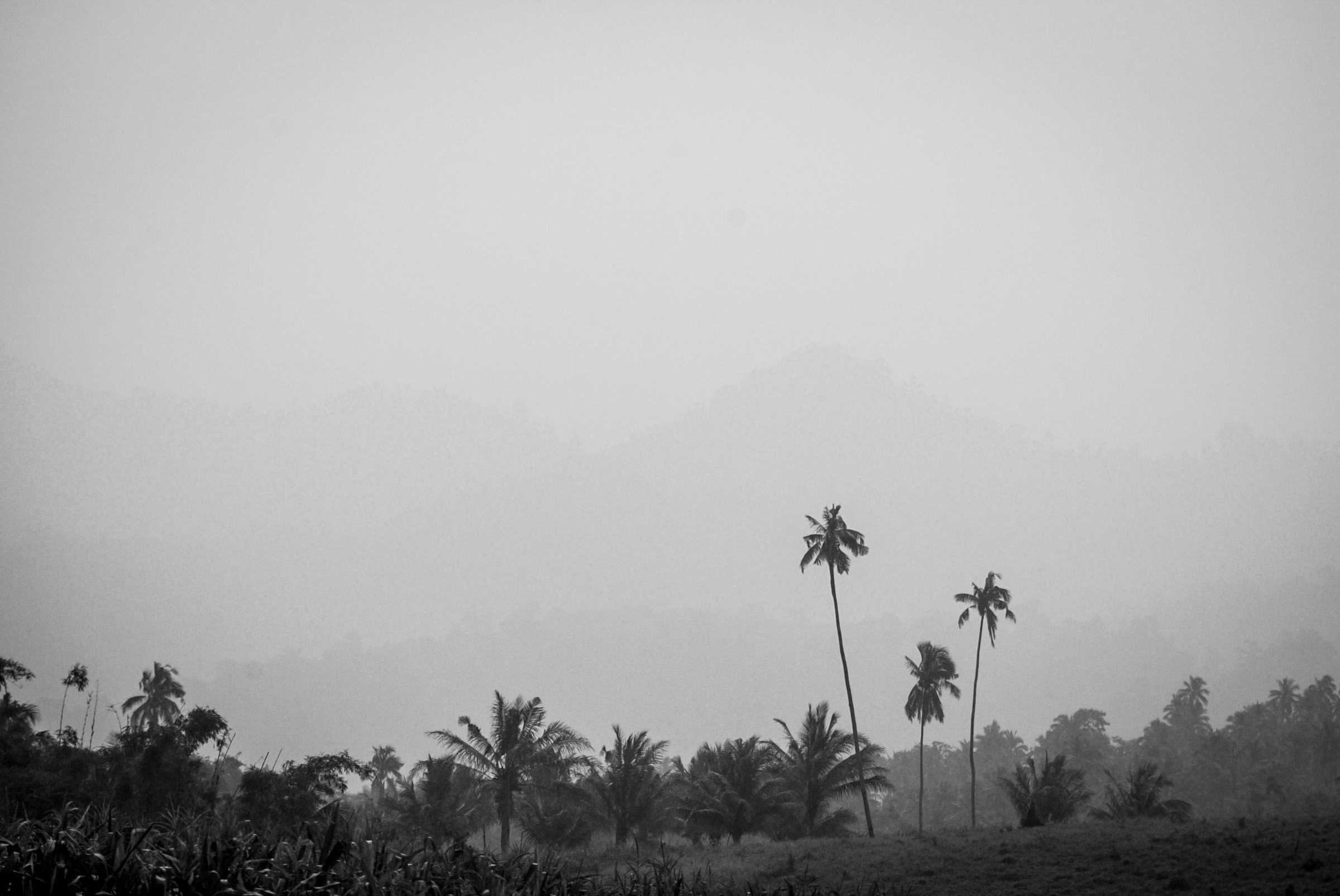 Haze over the mountain ranges in what used to be the MILF's Camp Abubkar in Matanog, Maguindanao on October 23.