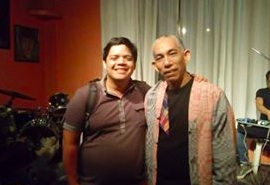 The author, Kevin Mikhail H. Gomez, with Joey Ayala.