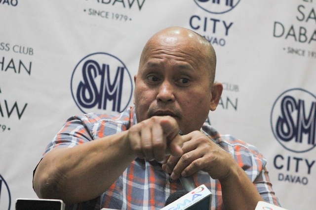 Incoming Philippine National Police chief Ronald dela Rosa vows to clean up his ranks and implement Oplan Tokhang (toktok-hangyo or knock and plead) on a national scale during a press conference at SM City Davao on June 2, 2016. Oplan Tokhang is an anti-drug campaign that dela Rosa started when he was the police chief of Davao City. MindaNews photo by TOTO LOZANO