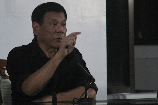 NO APOLOGIES. President-elect Rodrigo Duterte said he will not apologize for his remaks on the media killings and dared the media to boycott his activities during a press conference at the Malacanang of the South, Panacan, Davao City on June 2, 2016. MindaNews photo by Toto Lozano